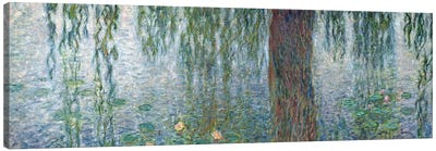 Waterlilies: Morning with Weeping Willows, detail of the left section, 1915-26   Canvas Art Print