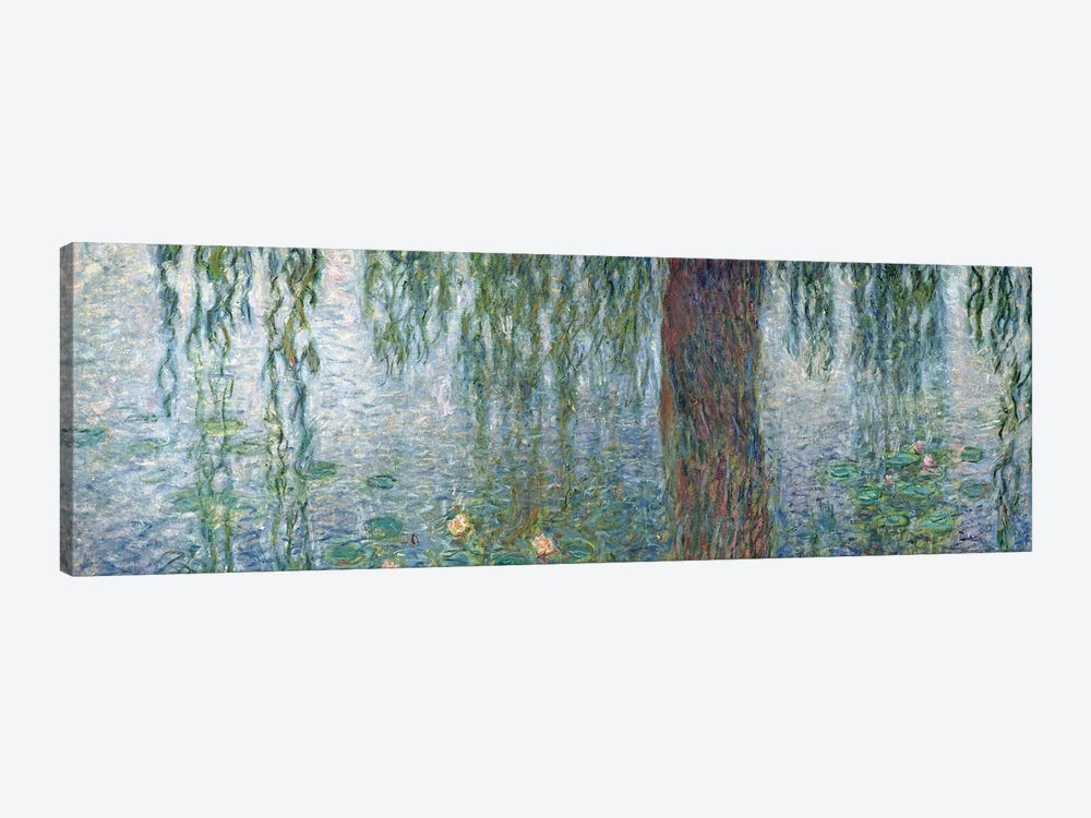 Waterlilies: Morning with Weeping Willows, detail of the left section, 1915-26   by Claude Monet 1-piece Canvas Art Print