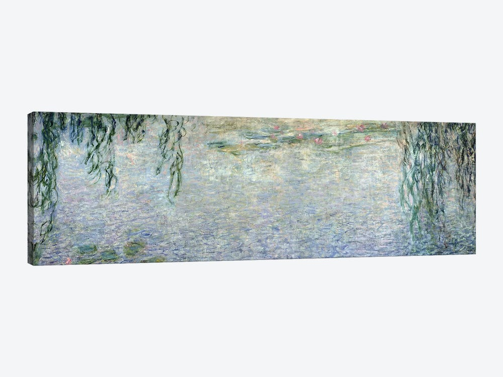 Waterlilies: Morning with Weeping Willows, detail of the central section, 1915-26   by Claude Monet 1-piece Canvas Wall Art