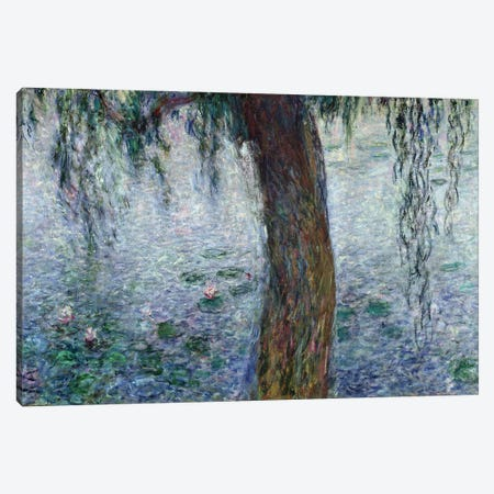 Waterlilies: Morning with Weeping Willows, detail of the right section, 1915-26   Canvas Print #BMN2192} by Claude Monet Canvas Art