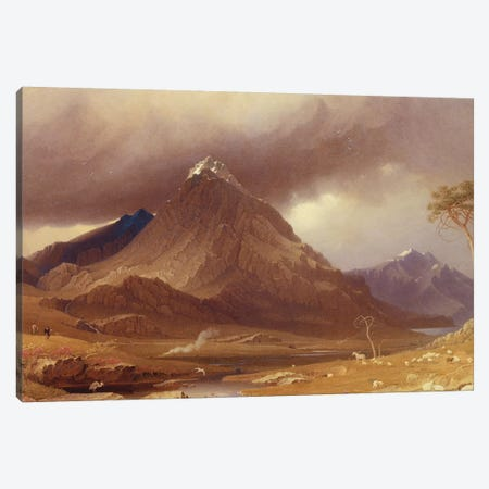 Tryfan, Carnarvonshire  Canvas Print #BMN2196} by George Fennel Robson Canvas Print