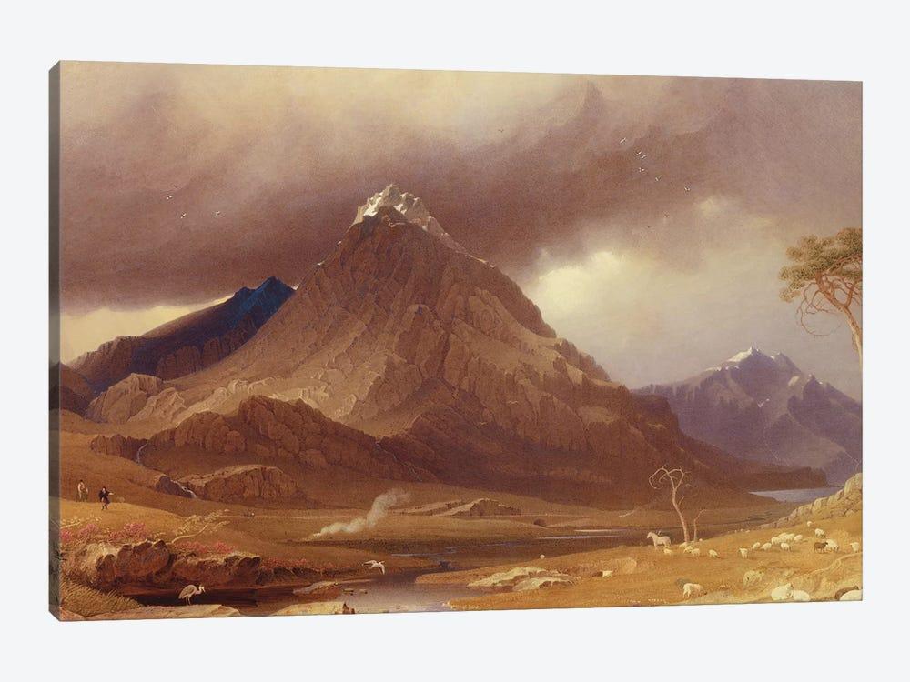 Tryfan, Carnarvonshire  by George Fennel Robson 1-piece Art Print