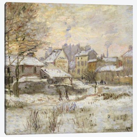 Snow Effect with Setting Sun, 1875  Canvas Print #BMN2198} by Claude Monet Canvas Art