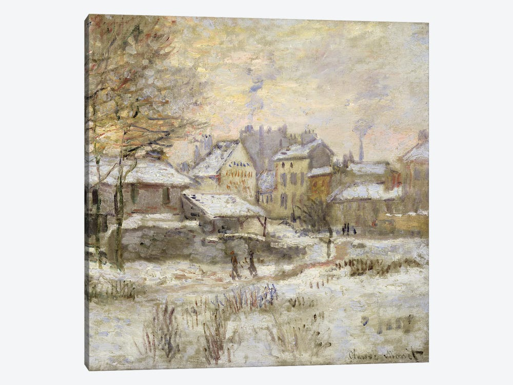 Snow Effect with Setting Sun, 1875  by Claude Monet 1-piece Art Print