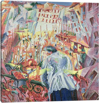 The Street Enters the House, 1911  Canvas Print #BMN219