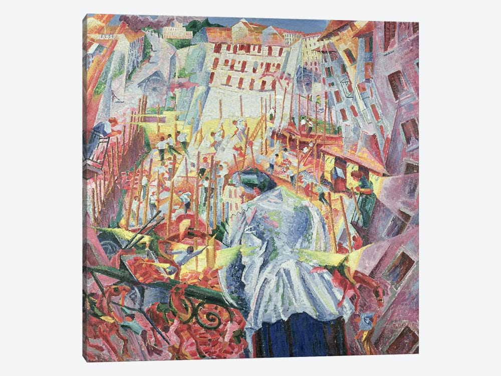 The Street Enters the House, 1911  by Umberto Boccioni 1-piece Canvas Wall Art