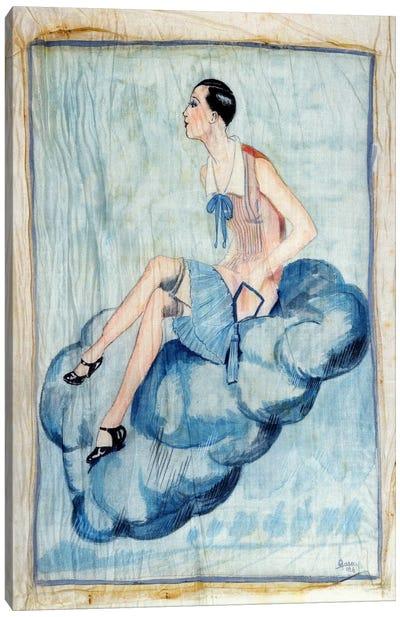 'La Garconne', c. 1925-30 (painted silk) Canvas Art Print
