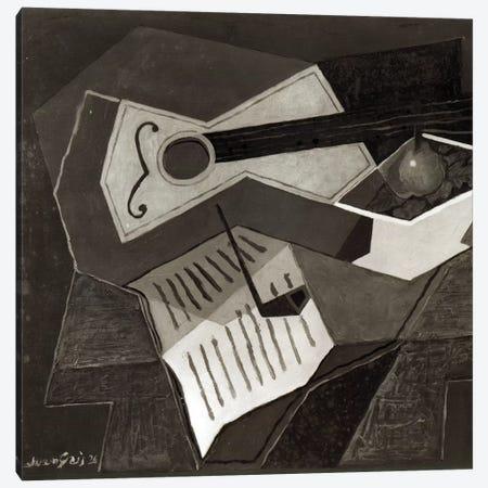 Guitar and Fruit bowl, 1926   Canvas Print #BMN2202} by Juan Gris Canvas Art