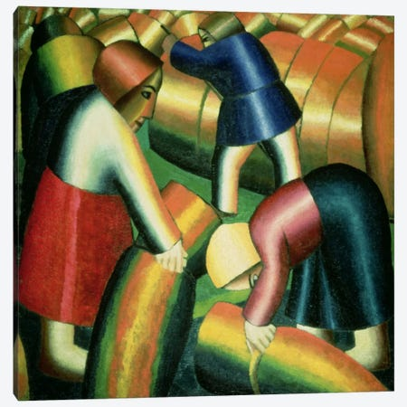 Taking in the Rye, 1912  Canvas Print #BMN2209} by Kazimir Severinovich Malevich Canvas Art