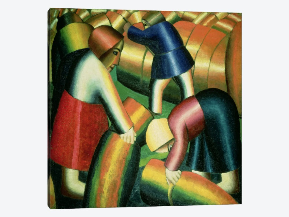 Taking in the Rye, 1912  by Kazimir Severinovich Malevich 1-piece Canvas Art Print