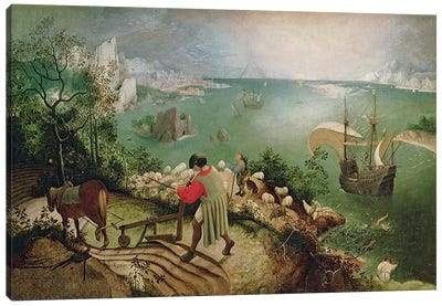 Landscape with the Fall of Icarus, c.1555  Canvas Art Print