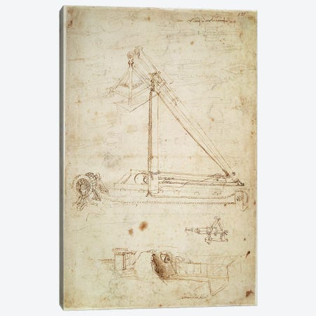 War machine  Canvas Print #BMN2214} by Leonardo da Vinci Canvas Wall Art