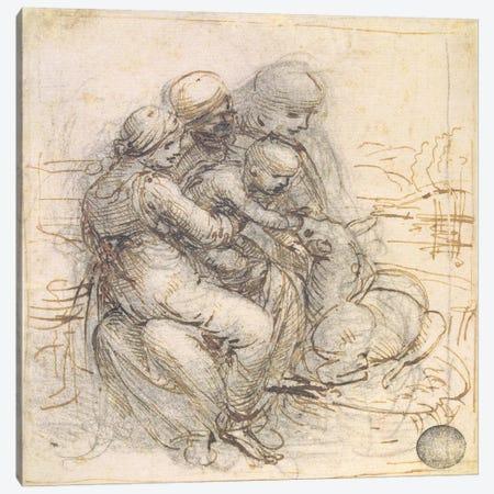 Virgin and Child with St. Anne, c.1501-10  Canvas Print #BMN2216} by Leonardo da Vinci Canvas Wall Art