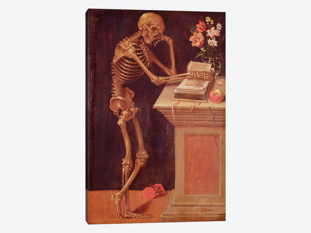 Vanitas, 1543  by Hans Holbein the Younger 1-piece Canvas Wall Art
