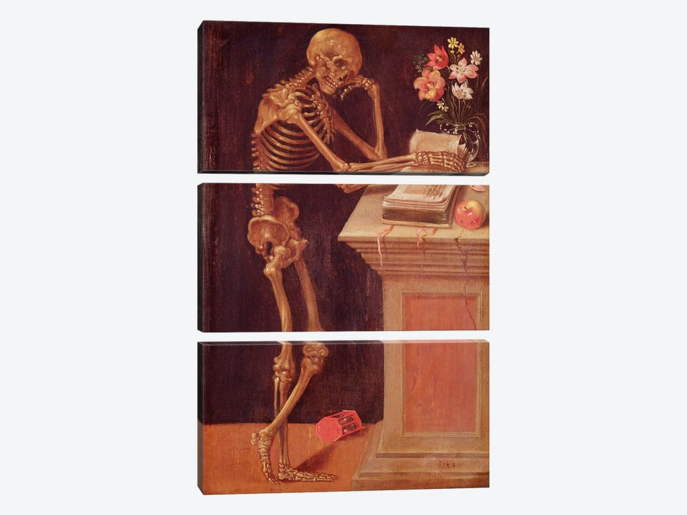 Vanitas, 1543  by Hans Holbein the Younger 3-piece Canvas Wall Art