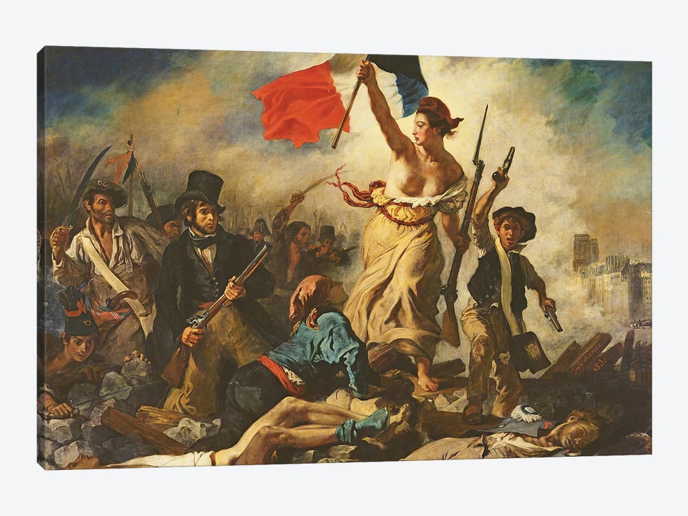 Liberty Leading the People, 28 July 1830, c.1830-31   by Ferdinand Victor Eugene Delacroix 1-piece Canvas Print