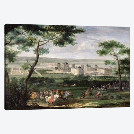 View of the Chateau de Vincennes, c.1665  Canvas Print #BMN2221} by Adam Frans van der Meulen Canvas Art