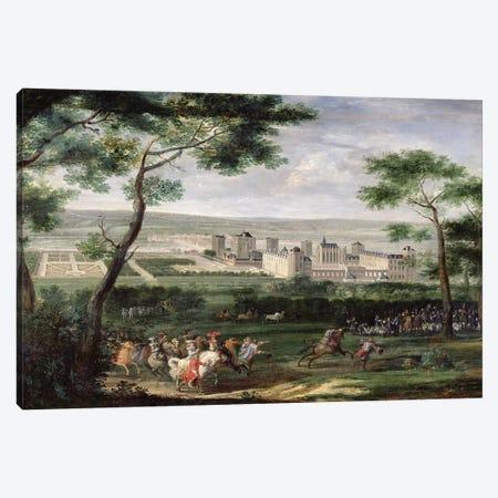 View of the Chateau de Vincennes, c.1665  Canvas Print #BMN2221} by Adam Frans van der Meulen Canvas Art
