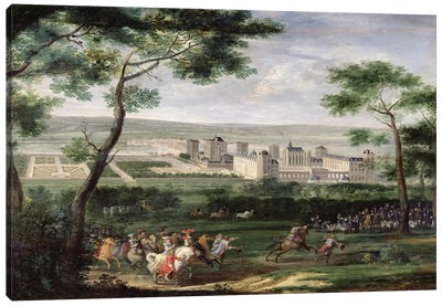View of the Chateau de Vincennes, c.1665  Canvas Art Print