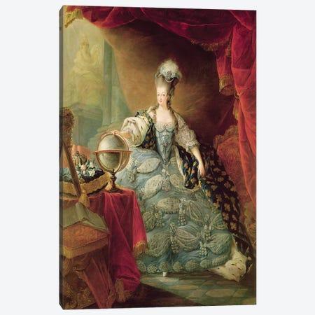 Portrait of Marie Antoinette  Canvas Print #BMN2222} by Jean-Baptiste Andre Gautier D'Agoty Canvas Wall Art