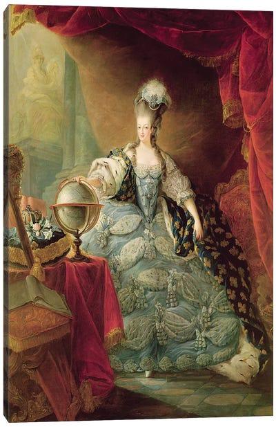 Portrait of Marie Antoinette  Canvas Art Print