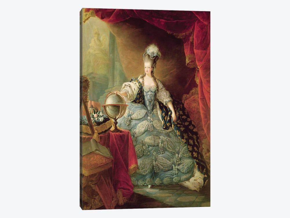 Portrait of Marie Antoinette  by Jean-Baptiste Andre Gautier D'Agoty 1-piece Canvas Art