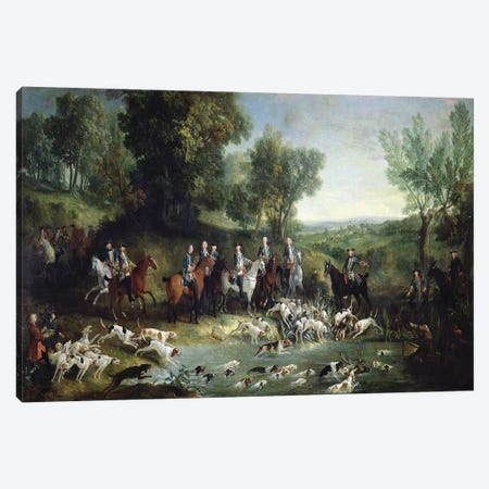 Louis XV  Canvas Print #BMN2223} by Jean-Baptiste Oudry Canvas Artwork