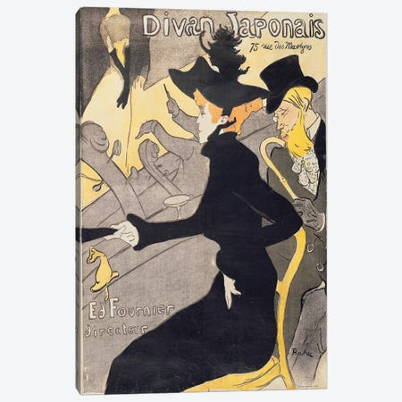 Poster advertising 'Le Divan Japonais', 1892  Canvas Print #BMN2229} by Henri de Toulouse-Lautrec Canvas Artwork