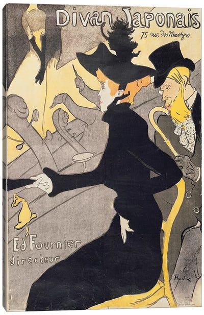 Poster advertising 'Le Divan Japonais', 1892  Canvas Art Print