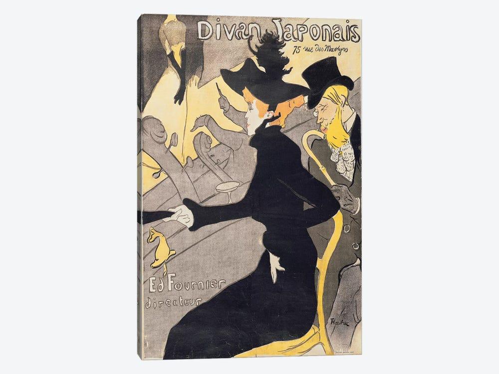 Poster advertising 'Le Divan Japonais', 1892  by Henri de Toulouse-Lautrec 1-piece Canvas Art Print