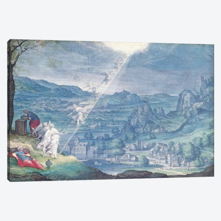 Jacob's Dream  Canvas Print #BMN2230} by Johann Wilhelm Baur Canvas Print