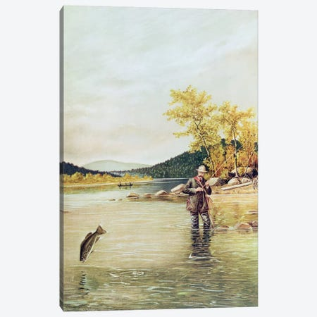 Trout Fisherman, 1889  Canvas Print #BMN2232} by Denton Canvas Print