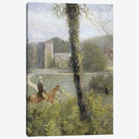 Somerset: Man Riding to His Lady,  Canvas Print #BMN2234} by John William North Canvas Wall Art