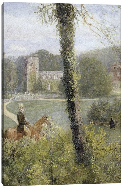 Somerset: Man Riding to His Lady,  Canvas Art Print