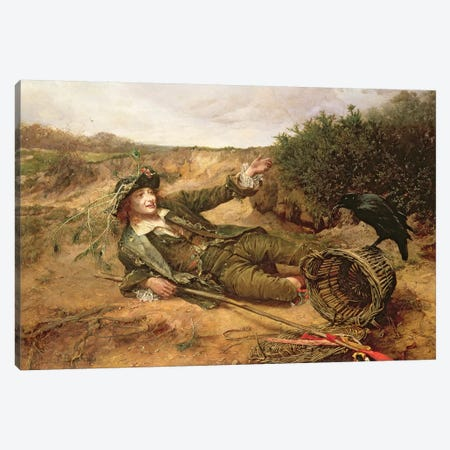 Fallen by the Wayside, 1886  Canvas Print #BMN2236} by Edgar Bundy Canvas Wall Art
