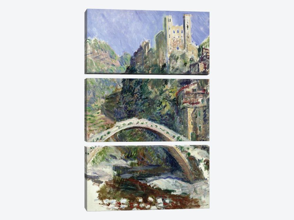 The Castle of Dolceacqua, 1884  by Claude Monet 3-piece Canvas Wall Art