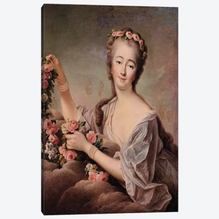 Portrait of the Countess du Barry  Canvas Print #BMN2239} by Francois-Hubert Drouais Canvas Art Print