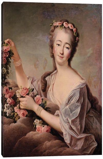 Portrait of the Countess du Barry  Canvas Art Print
