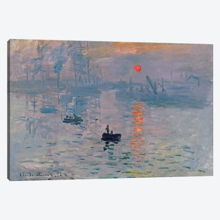 Impression: Sunrise, 1872  Canvas Print #BMN223} by Claude Monet Canvas Artwork