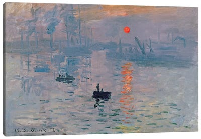 Impression: Sunrise, 1872  Canvas Art Print