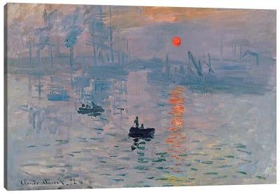 Impression: Sunrise, 1872  Canvas Art Print