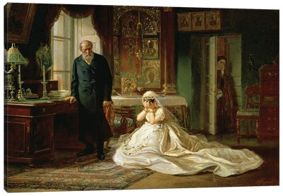 At the Altar, 1870s  Canvas Art Print