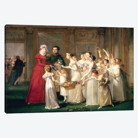 The Arrival of Marie-Louise de Habsbourg-Lorraine  Canvas Print #BMN2245} by Pauline Auzou Art Print