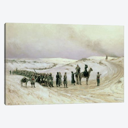 Bulgaria, a scene from the Russo-Turkish War of 1877-78, 1879  Canvas Print #BMN2247} by Mikhail Georgievich Malyshev Canvas Print