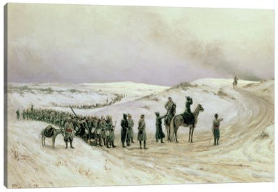 Bulgaria, a scene from the Russo-Turkish War of 1877-78, 1879  Canvas Art Print