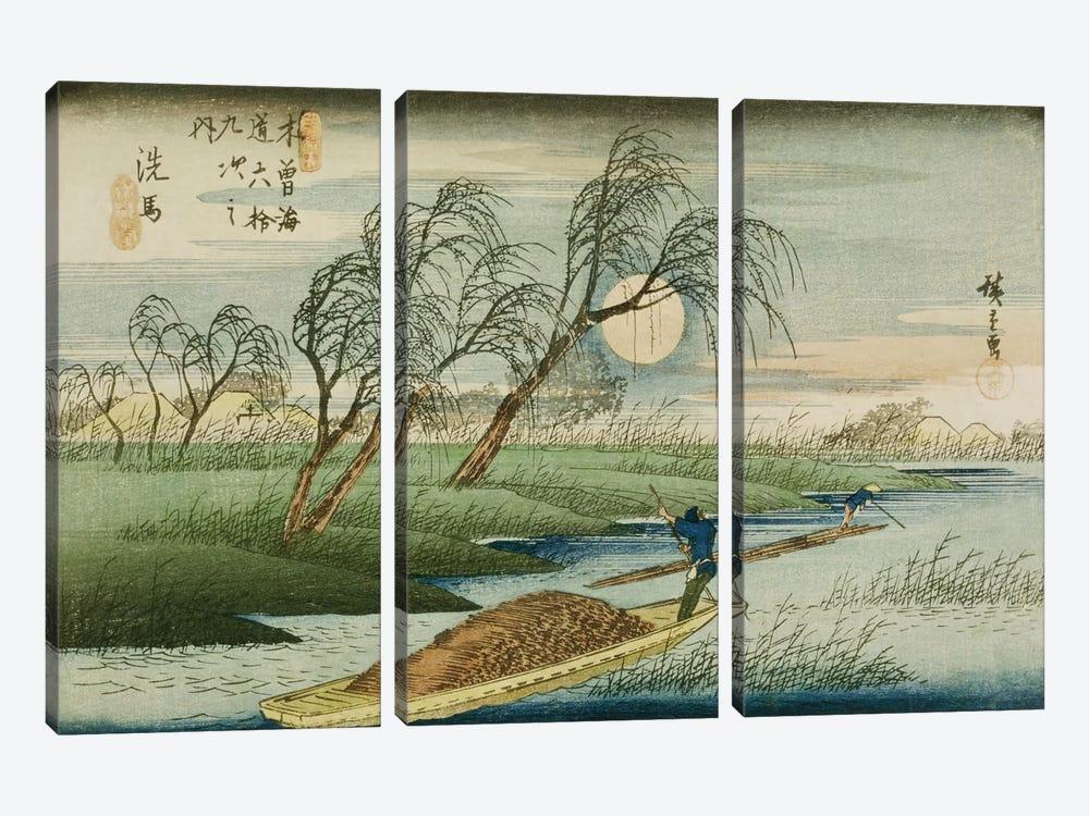 Seba by Utagawa Hiroshige 3-piece Canvas Print