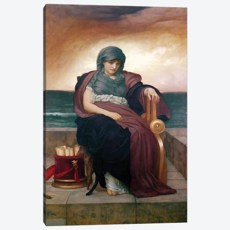 The Tragic Poetess, c. 1890  Canvas Print #BMN2253} by Frederic Leighton Canvas Print