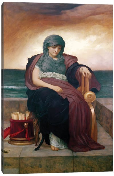 The Tragic Poetess, c. 1890  Canvas Art Print