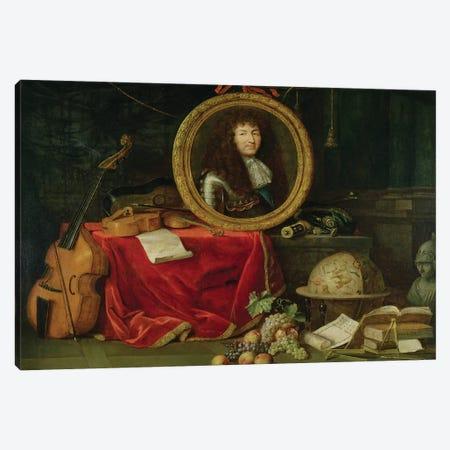 Still life with portrait of King Louis XIV  Canvas Print #BMN2254} by Jean Garnier Canvas Art