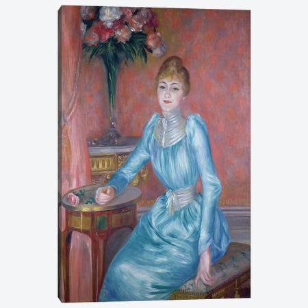 Madame de Bonnieres, 1889  Canvas Print #BMN2256} by Pierre-Auguste Renoir Canvas Wall Art